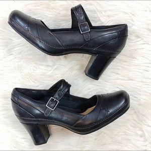 Clarks Leather Heeled Mary Jane